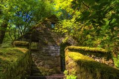Abandoned stone building in Forest Park Stock Image