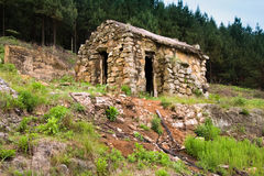 Abandoned stone house Stock Image