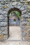 Abandoned Stone House Archway Royalty Free Stock Photography