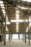 Abandoned storage space in a factory. Closeup of photo Royalty Free Stock Photos
