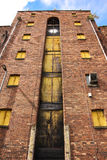 Abandoned storehouse. In Liverpool docks Royalty Free Stock Photos