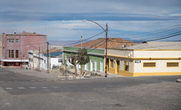Abandoned streets, Chuquicamata ghost town Royalty Free Stock Photo