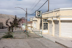Abandoned streets, Chuquicamata ghost town Stock Photography
