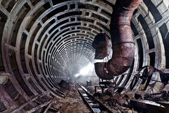 Abandoned subway tunnel in Kiev, Ukraine Stock Image