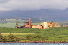 Abandoned sugar mill on coast of Kauai Royalty Free Stock Photos