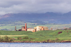 Abandoned sugar mill on coast of Kauai Stock Photography