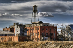 Abandoned sugar mill after hdr treatment Royalty Free Stock Image
