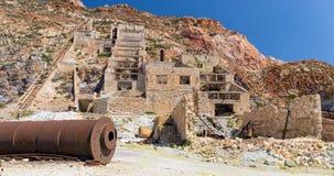 Abandoned sulphur mines, Milos island, Greece Royalty Free Stock Photos