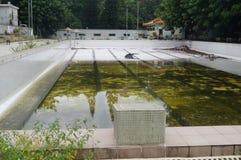 Abandoned swimming pool Royalty Free Stock Image