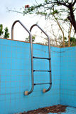 Abandoned swimming pool. In the backyard Royalty Free Stock Photo