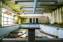 Abandoned Swimming Pool Royalty Free Stock Images