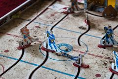 Abandoned Table Hockey Game stock photography