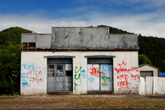 Free Abandoned Tagged Building Royalty Free Stock Images - 13398579