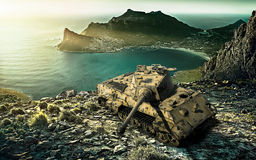 Abandoned tank Stock Photography
