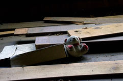 Abandoned teddy bear Royalty Free Stock Image