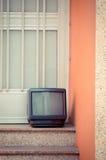 Abandoned television Stock Photography