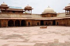 Abandoned temple in Fatehpur Sikri complex, India Royalty Free Stock Images