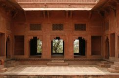 Abandoned temple in Fatehpur Sikri complex, India Royalty Free Stock Photos