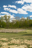 Abandoned tennis court Royalty Free Stock Photography