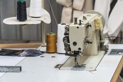 Abandoned textile factory - sewing machines Royalty Free Stock Photo