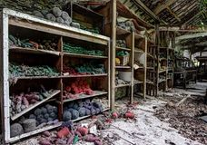 Abandoned textiles mill Stock Images