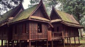 Abandoned Thai Wooden House Stock Photo