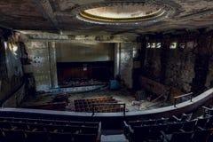 Abandoned Theater - Buffalo, New York. An interior view of the long abandoned theater in Buffalo, New York Stock Photo