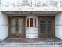 Abandoned Theater Front. An abandoned theater front in southwest Virginia Stock Images