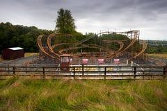 Abandoned theme park stock image