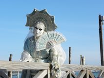 Abandoned to herself, Carnival of Venice Stock Photography