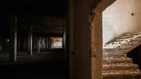 Abandoned tobacco warehouse Royalty Free Stock Images