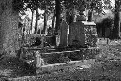 Abandoned tombstone Royalty Free Stock Images