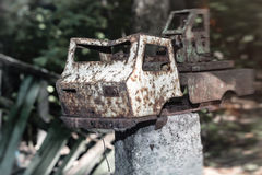 Abandoned toy truck Royalty Free Stock Image