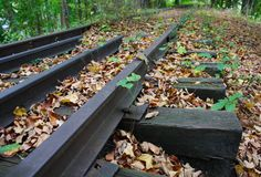 Abandoned Tracks Stock Photos