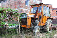 Abandoned  tractor Stock Image