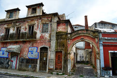 Abandoned traditional houses in Portugal Royalty Free Stock Image