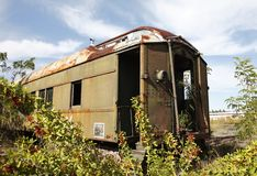The abandoned train Royalty Free Stock Photography