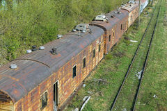Abandoned train Royalty Free Stock Images