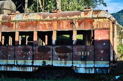 Abandoned train car in the Savannah Station Stock Images