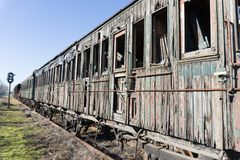 Abandoned train carriage Stock Photo