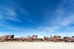 Abandoned Train Engines Stock Image