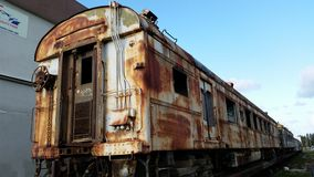 Abandoned train Stock Photo