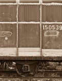 An abandoned train's bogie Stock Images
