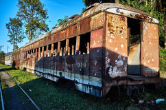 Abandoned train in the Savannah Station Stock Image