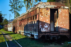 Abandoned train in the Savannah Station Royalty Free Stock Photo