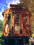 Abandoned Train. In Spain Royalty Free Stock Photo