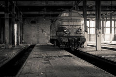 Abandoned train station Royalty Free Stock Photos