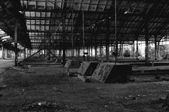 Abandoned train station Stock Photography