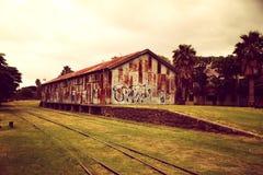 Abandoned Train station Stock Images