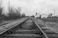 Abandoned train tracks Stock Photography